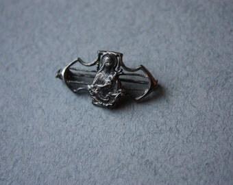 Virgin Mary Antique Brooch