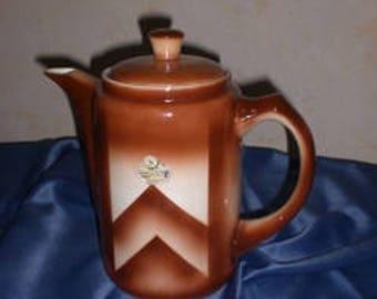 Antique M Z Austria Violets Coffee Pot Lidded Circa