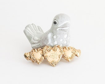 Kirk's Folly Golden Hearts Barrette FRANCE