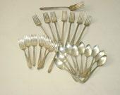 Vintage Silverware, Tarnished Silverplate, Monarch Plate Mildred, Vintage Flatware