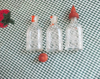 Vintage Lot of three (3) doll baby bottles by Amsco - Doll-E-Toys - Estate find!