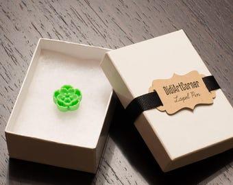 Lapel pin, Mini Light Green Sakura Lapel Pin, Flower Lapel Pin, Chrysanthemum Lapel Pin, lapel pin, lapel flower pin,