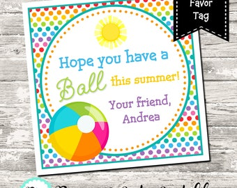 This is a picture of Wild Have a Ball This Summer Printable