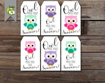 Dramatic image within owl miss you printable