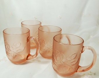 Vintage 1980s Pink Mug Rosa-Pink (Rosaline) by Arcoroc
