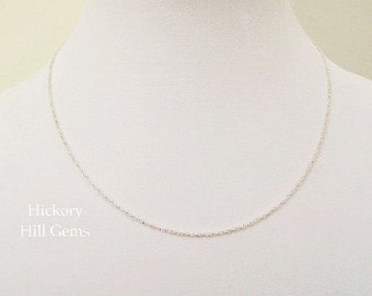"""18"""" Sterling Silver Chain Necklace Twisted Rope Link Chain Necklace, 18 inch Chain, Rope Chain .925 Sterling Silver Necklace Chain 18"""" Chain"""