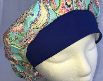 Paisley Surgical Bouffant Hat