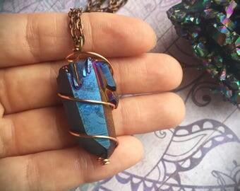 Aura Quartz Necklace