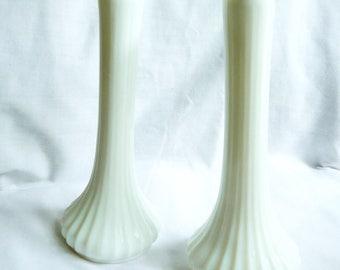 Vintage White Hoosier Milk Glass, Milk Glass Vases, Hoosier Milk Glass, Shabby Chic,  Cottage chic