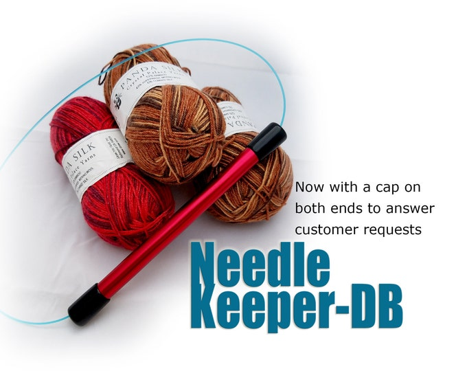 Featured listing image: Needle Keeper-DB:  Double-Capped for circular knitting needles, protect your precious needles and work in progress.