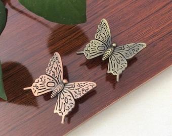 Dresser Knobs Pulls Butterfly Knobs Pulls Drawer  Kitchen Cabinet Knobs Pulls Handles Bronze Decorative Furniture Knob Pull Hardware