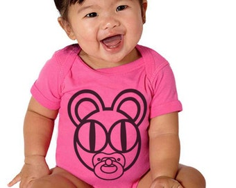 "The ""Babiohead"" - Radiohead bear with binky baby onesie"