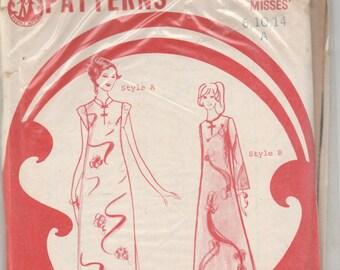 Lifestyle Patterns 5700 Hawaiian Muumuu Caftan Full Length Long Maxi A-Line Dress Size 10 Bust 32.5 Vintage Hawaii Rare Sewing Pattern