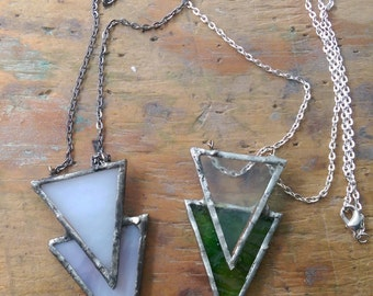 """33"""" Jessica Handmade Stained Glass Pendant Necklace"""