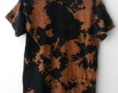 Acid wash Tee Shirt, Tie dye Tee shirt, Acid Wash T-shirt, Black T-shirt, Tie dye T-shirt, Grunge, T-shirt, Crop Tee shirt, retro, hipster