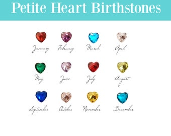 Birthstone Floating Charm for Glass Locket, 4MM PETITE HEART CRYSTAL Charms for Memory Locket, Personalized Floating Locket Pendant Charm.