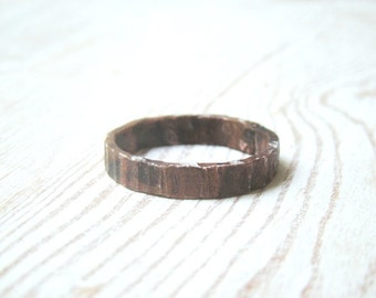 Oxidized Copper Mens Ring, Mens Engagement Ring, Mens Wedding Band, Men's band Ring, Unique Anniversary Ring, Engagement Ring , Wedding Ring