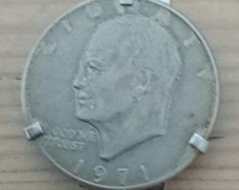 Vintage Eisenhower one dollar coin money clip