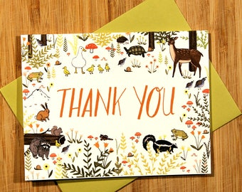 Forest Thank You Card