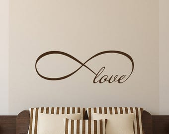 Love Infinity Symbol Wall Decal Love Bedroom Vinyl Decals Home Decor Infinity Loop Wall Quote Vinyl Lettering V951