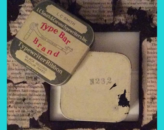 SMITH & CORONA Type Bar Brand Typewriter Ribbon Tin VINTAGE