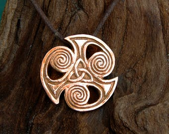 Viking Triquetra Pendant in Bronze