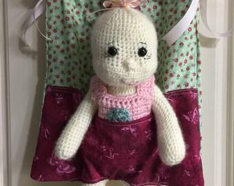 Little Girl Shoulder Bag Doll Carrier