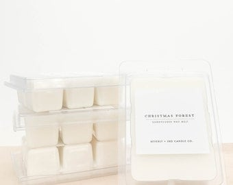 CHRISTMAS FOREST Soy Wax Melts   Scented Soy Tarts, Soy Candle Melt, Scented Wax Cubes