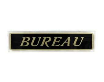 plaque de porte bureau vintage franais signe de bureau plaque murale noir et or - Bureaux Adolescente Noir Et Strass