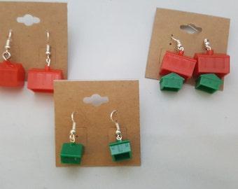 Monopoly House & Hotel Earrings - Various Styles