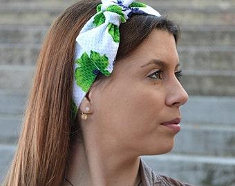 Headbands, White Headband, Bohemian Headband, Hair Accessories, Womens Accessories, Womens Turbans, Cotton Headband, Vintage Headbands, 50s
