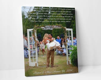 Wedding First Dance Song Lyrics - Photo on Canvas - Song Lyrics Art - Wedding song - Canvas Print - Anniversary Gift - Wedding Photo