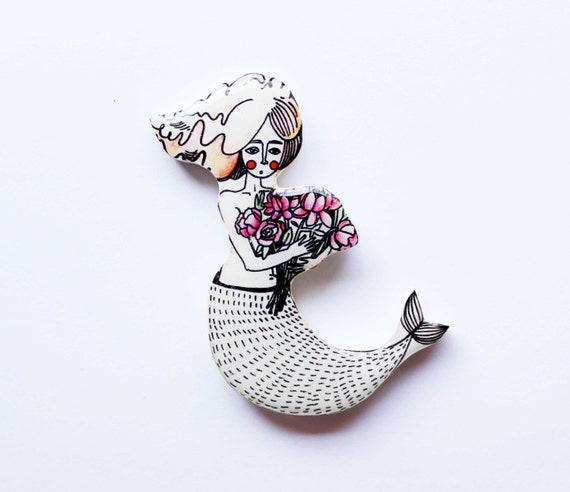 Christmas Gifts For Girlfriend: Mermaid Brooch Birthday Gift For Girls Christmas Idea Gifts
