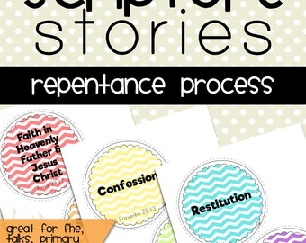 Repentance Printable, Repentance Process Digital File, Repentance Process, Family Home Evening, Primary, Gospel Principle