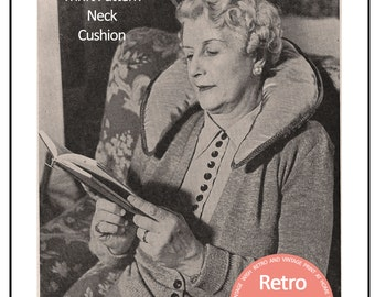 1940's Neck Pillow Instructions and Pattern – Pdf Instant Download