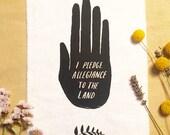 Large Pledge Sew-On Patch - back patch, fabric patch, nature punk, folk punk, art patch, cloth patch, punk patch, screenprint