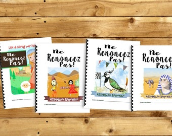 FRENCH / FRANÇAIS Don't Give Up! Convention (Package Deal ~4 Children's Notebooks) DIGITAL pdf Download -Mini, Junior, Middling and Standard