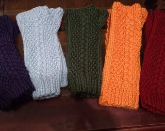 elbow-length fingerless gloves