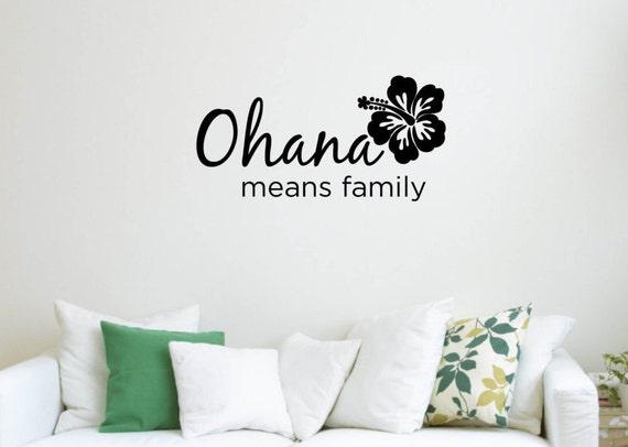 Vinyl Wall Word Sticker Ohana Means Family Disney S