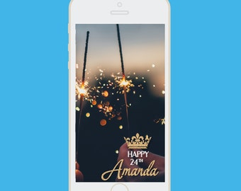 Birthday Snapchat filter | geofilter