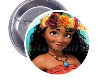 Flower Crown Moana - Your Choice of 2-1/4 inch Button Product Accessory