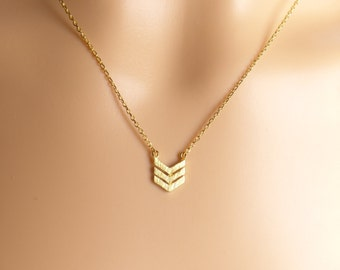 Triple chevron necklace,gold chevron necklace,Dainty Necklace,Gift ideas,birthday present,mothers day gift