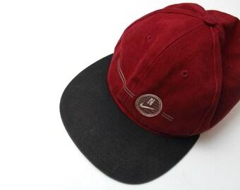 90s Vintage Nike Hat Maroon Hat Nike Swoosh Maroon Nike Hat 90s Nike Adjustable Hat
