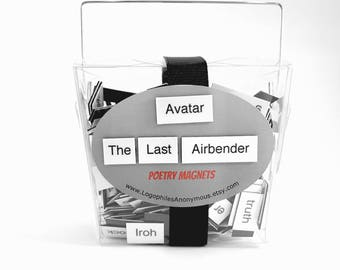 Avatar The Last Airbender Poetry Magnet Set - Refrigerator Poetry Word Magnets - Free Gift Wrap