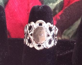 Petoskey Stone Ring - Adjustable - Silver