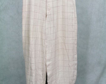 1920s Knickers Plus fours Vintage Golf Pants Paper Boy Summer Linen Weight