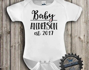 Personalized Baby Gift-Pregnancy announcement-Personalized name baby clothes-Baby clothing-Cute baby clothes-Birth Announcement-318