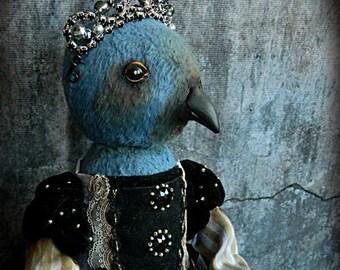 Art Bird Doll Teddy OOAK Queen Luiza