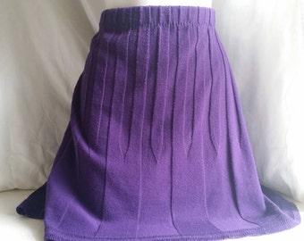 Purple Sweater Skirt*Circle Skirt*Refashioned Sweater Skirt*Women's Sweater Skirt*Elastic Waist