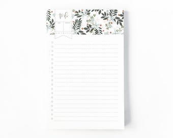 Floral To Do Notepad | Illustrated To Do List Notepad with Hand Lettered Calligraphy, Daily Planner Notepad : Morning Blooms To Do Notepad